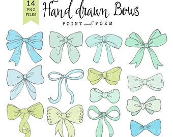 Bow cliparts PNG, bow clipart, baby boy, ribbon graphic, scrapbooking, cards, hand drawn