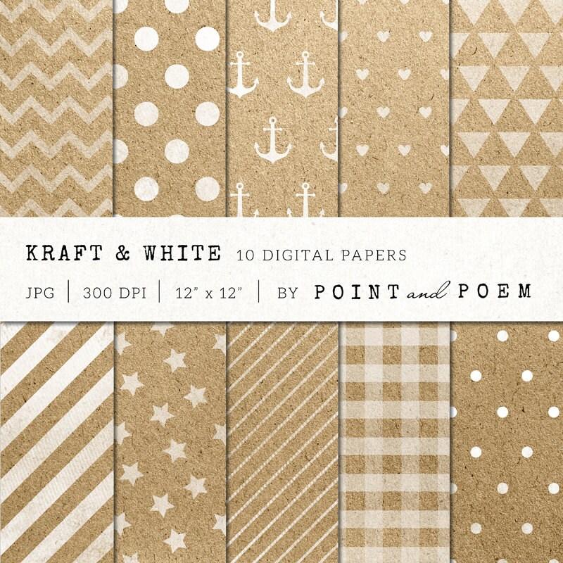 digital papers watermarking white