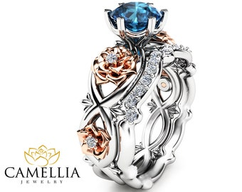 camellia jewelry unique engagement ring by camelliajewelry. Black Bedroom Furniture Sets. Home Design Ideas