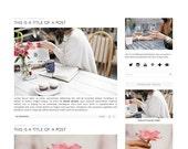 Premade Blogger Template - Instant Download - Willow & Oak - Blogger Template - blogger theme - blog design - blogger blog template