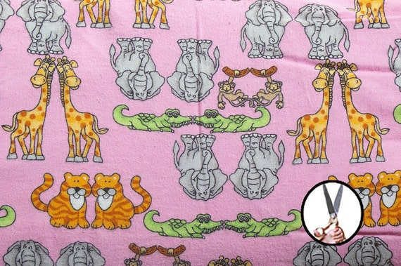 Printed flannel fabrics by the yard 45 39 39 urban zoology for Children s clothing fabric by the yard