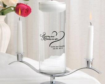Floating Unity Candle Set , Unity Candle Set , Custom Unity Candle , Wedding Candle ,  Many Designs, Wedding Vase