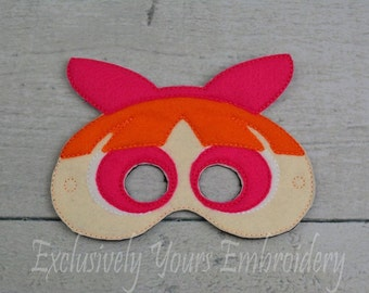Pink Superhero Sister Children's Mask  - Costume - Theater - Dress Up - Halloween - Face Mask - Pretend Play - Party Favor