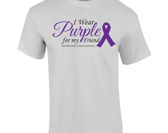 Pancreatic Cancer Awareness Tshirt or Combo Pack with Bracelet!