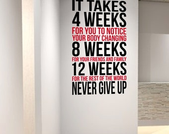 Inspiring Professional Quality Matte Wall Decal perfect for Gyms Health & Fitness Centres