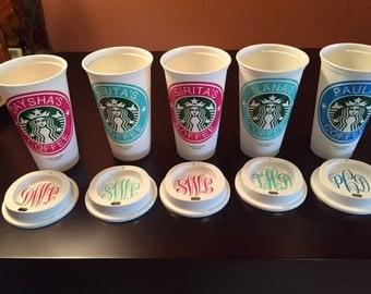 Personalized Starbucks Cup/ Travel Mug/Birthday Gift/ Bridesmaid Gift/Christmas/Office Gifts/Nurse