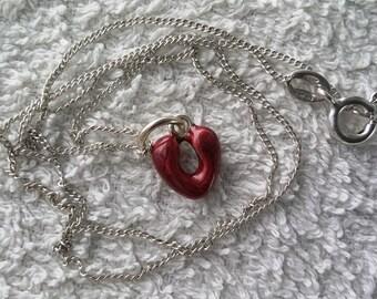 925 sterling silver heart charm, Italian, like new
