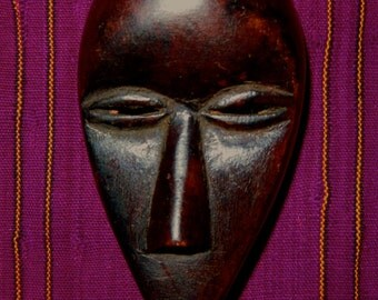 Dan Tribal Passport Mask Worn For Identification Cote d'Ivoire Ethnic Art African