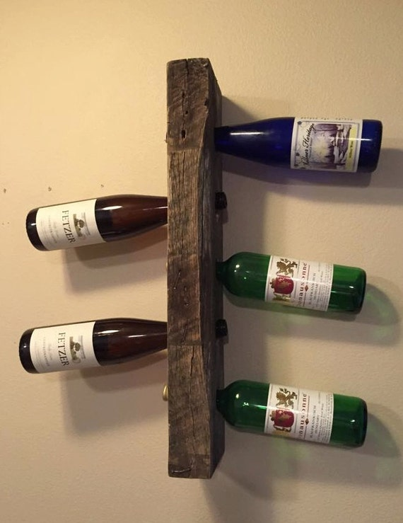 Items Similar To Rustic Pallet Furniture Wine Rack Bottle Display Wall Shelf Home Bar Rustic