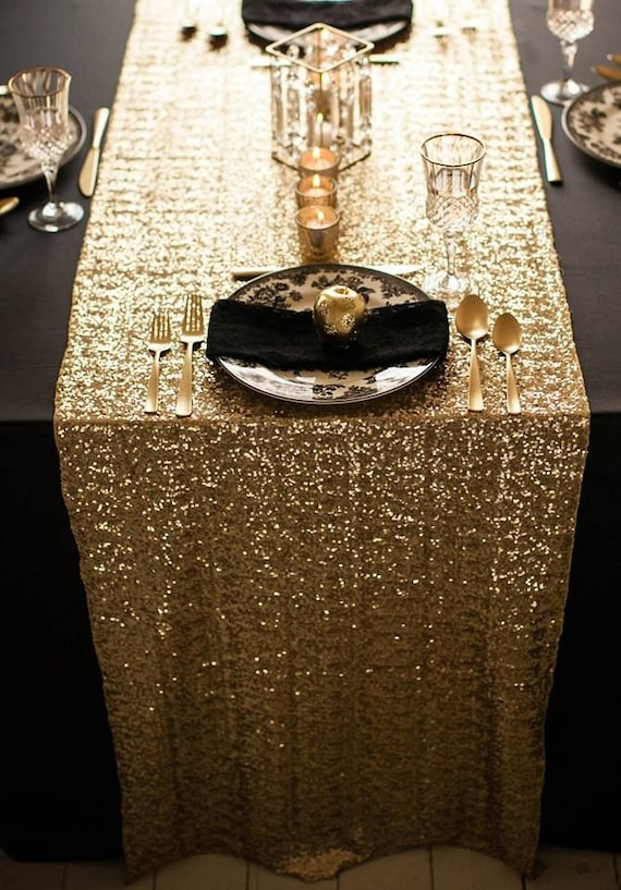 Luxury Sequin Table Runners for Wedding Tables