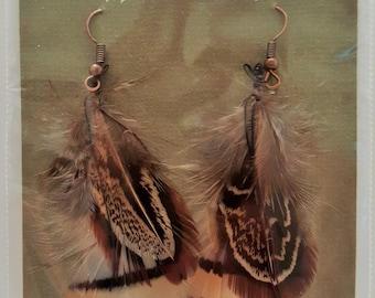 Mixed Pheasant earrings