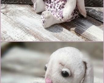 Original Artist Bunny Lilu Collectible teddy bunny OOAK vintage style rabbit