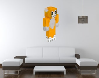 Stampy Vinyl Wall Decal - Up to 4 feet tall! - Minecraft Inspired