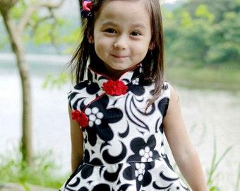 chinese style cheongsam short  top  handmade baby girl