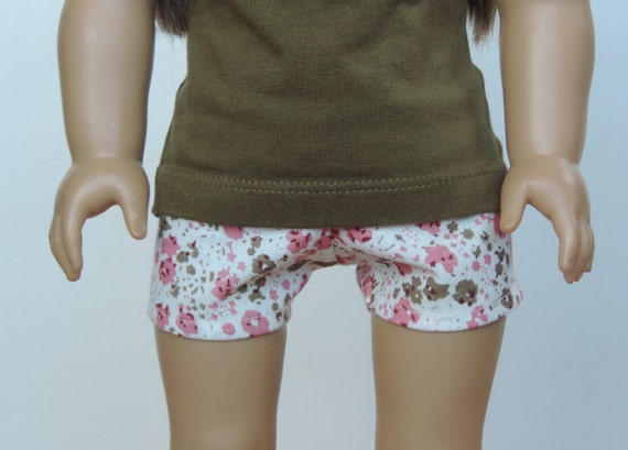 Floral Shorts - American Girl Doll Clothes