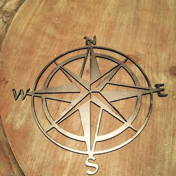 Bare Metal Natutical Compass Wall Decor Home Decor Wall