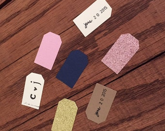 Stamped Confetti Tags