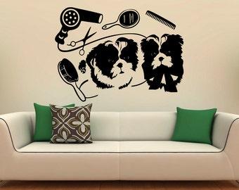 Pet Grooming Wall Decal Vinyl Stickers Pet Shop Interior Pet Salon Design  Art Murals Bedroom Decor Part 57