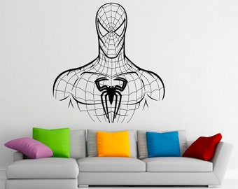 Spiderman Wall Decal Vinyl Stickers Comics Superhero Interior Home Design  Wall Art Murals Bedroom Decor (9sp01n)