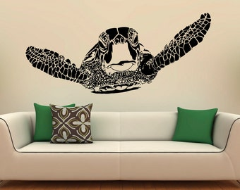Turtle Wall Decal Etsy - Wall decals art