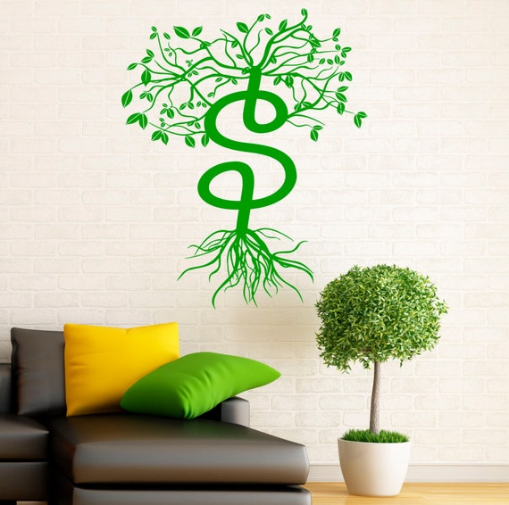 Wall Decor Stickers Dollar Tree : Money sign wall decal vinyl stickers dollar tree bank