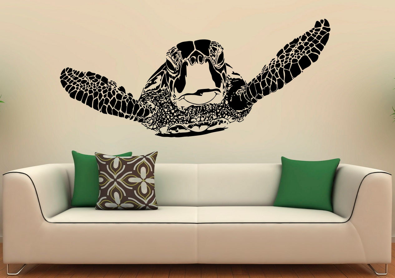 Sea Turtle Wall Decal Vinyl Stickers Sea Animals Home Interior
