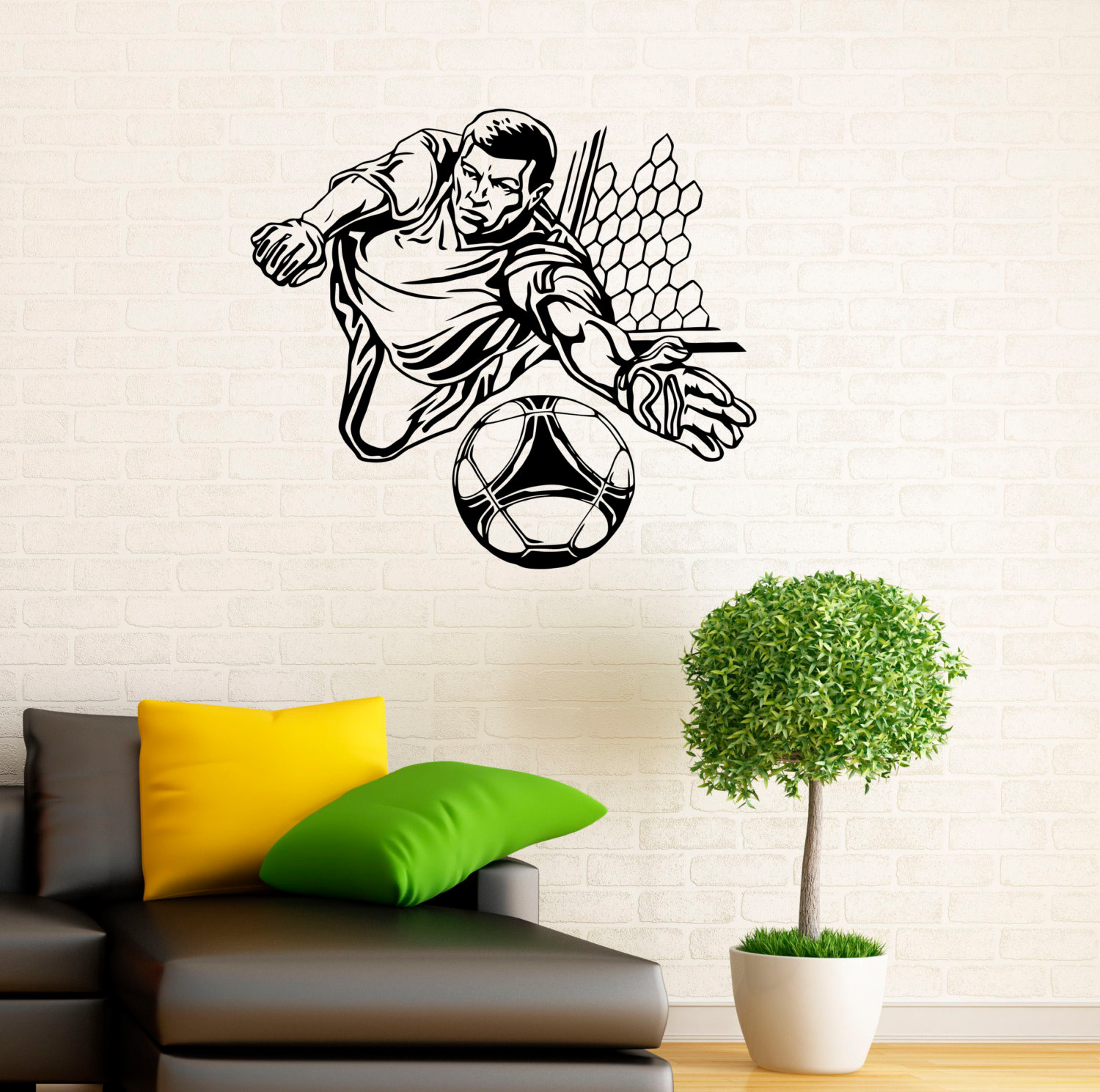 Soccer Goalkeeper Wall Decal Football Vinyl Stickers Sport