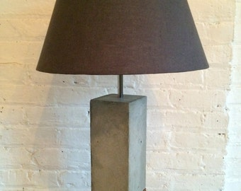 "Brooklyn Loft ""718 lamp"" - concrete on Walnut"