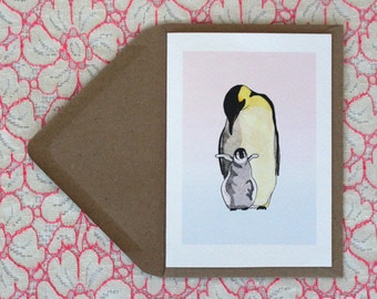 Hatchling penguin card (A6)