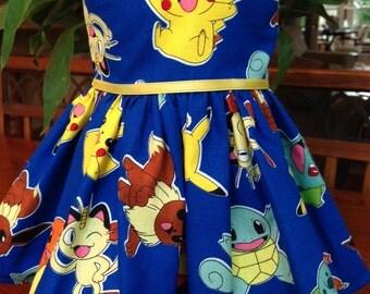 Pokemon Pikachu blue dress fits 18 inch dolls including American Girl Doll