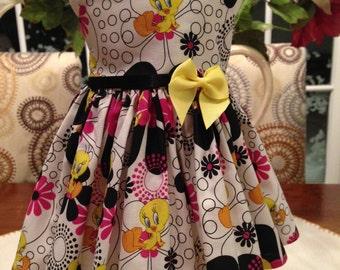 Tweetie Bird & Sylvester dress fits 18 inch dolls including American Girl Doll