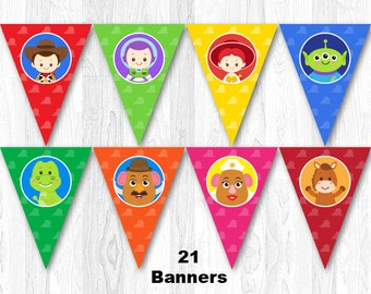 Toy Story Birthday Banner, Toy Story Birthday Party Banner, Toy Story Banner, Toy Story Bunting