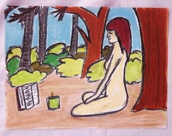 "Pagan Lady Artwork (9"" x 12"") Original Artwork"