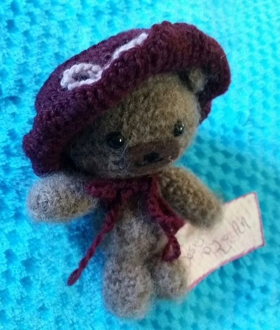 Amigurumi Wool : Amigurumi Teddy Bear Wool Brina Bear Hand Made by ...