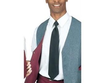 Men's Grey/Burgundy Full Back Reversible Dress Vest
