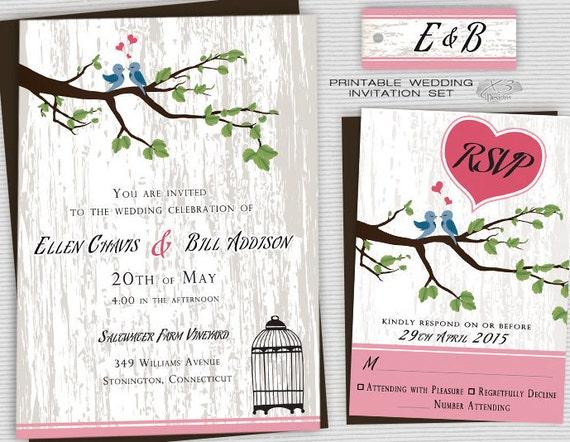 Backyard Wedding Invitation: Printable Backyard Wedding Invitations Country Wedding