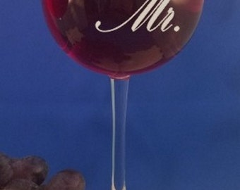 Personalized 16 oz Red Wine glass-Bridesmaid Gift-Wedding Favors-Anniversary-Mother of the Bride-Mr.& Mrs.-Mothers Day-Wedding Gift-Red Wine