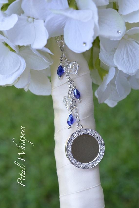 Blue Bridal Bouquet Charm : Something blue bridal photo charm bouquet picture