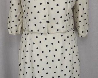 Vintage 1950's Navy Polka Dot summer suit! SALE!