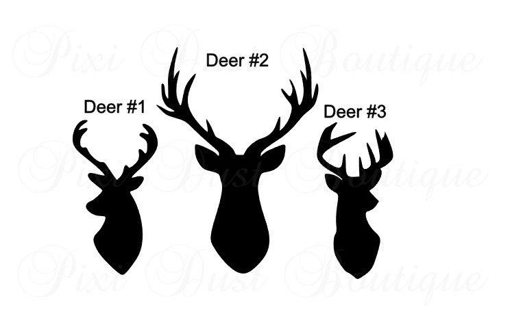 Buck Decal Deer Head Decal Hunting Decal Deer Car Decal