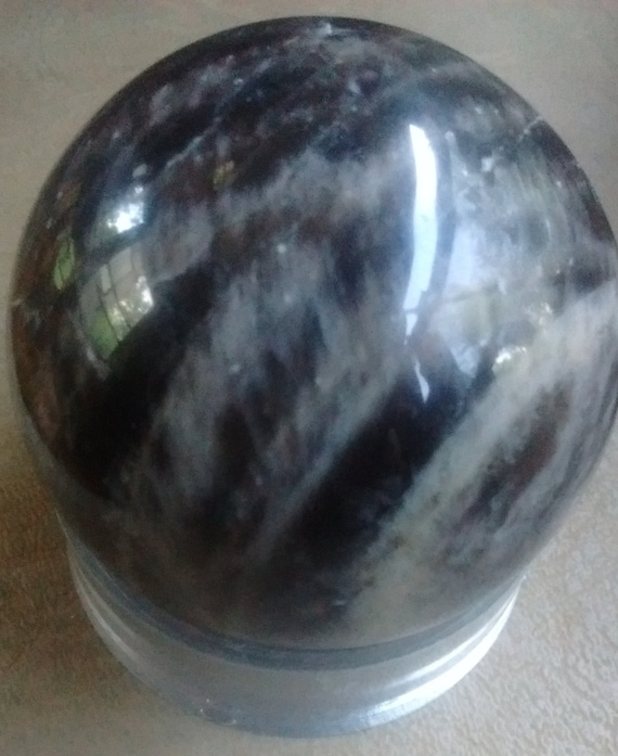 Black Moonstone Sphere 45mm Beautiful Reflection Crystal