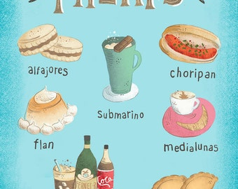 8X10 Colorful Treats, food from Argentina, Art Print