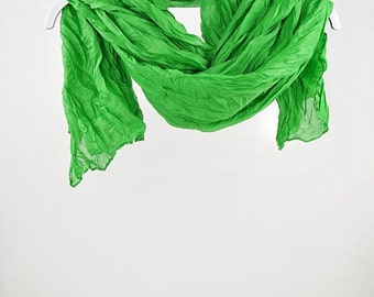 Green Scarf, Grass Scarf, Women's Fashion Accessories, Large Scarves, Shawls, Oversized Scarf, spring scarf (VS-17-12)