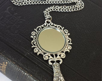Vintage mirror necklace