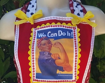 Made-To-Order Rosie the Riveter Retro Full Apron