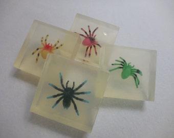 Spider Soap - Fun Moisturizing Soap - Kids Gift Soap - Handmade Glycerin Soap - Halloween Party Favor - Childrens Soap - Homemade