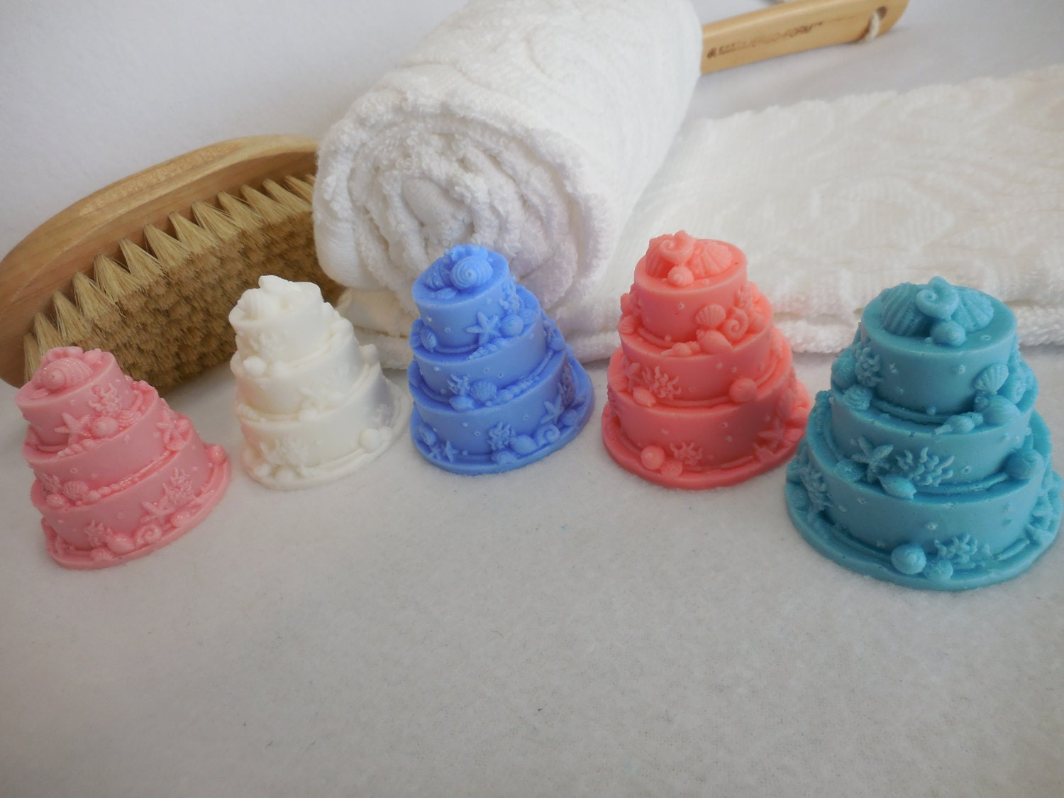 Wedding Cake Soaps Beach Themed Bridal Shower Party Favor