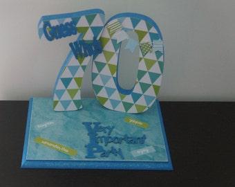 70th Birthday Centrepiece, age centrepiece, birthday centrepiece, table centrepiece, any age table decoration