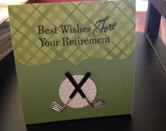 Favor Boxes,  Retirement Golf Theme (Per Dozen)