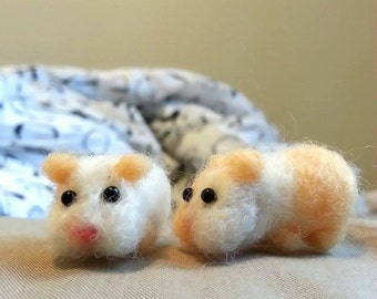 Needle felted miniature hamster